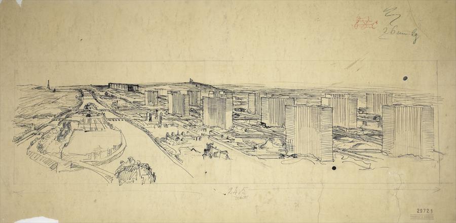 Fondation Le Corbusier - Projects - Plan Voisin